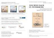 Von WiEn nach St. PEtErSburg - des Zentrums für Gartenkunst und ...