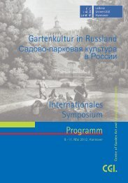 Programm Gartenkultur in Russland Internationales Symposium