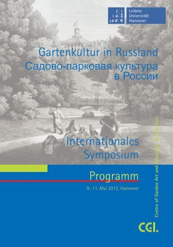 Programm Gartenkultur in Russland Internationales Symposium