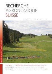 Télécharger le PDF - Agrarforschung Schweiz