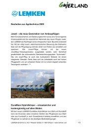 LEMKEN Neuheiten zur Agritechnica 2009