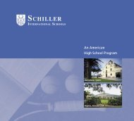 schiller international schools - Academia Sánchez-Casal