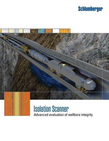 Isolation Scanner brochure - Schlumberger