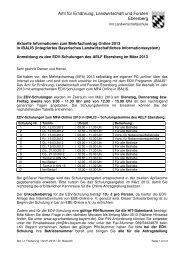 EDV-Schulungen zum MFA-Online 2013 iBalis - Amt für Ernährung ...