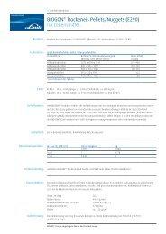 BIOGON® Trockeneis Pellets/Nuggets (E290) für ... - Linde Gas