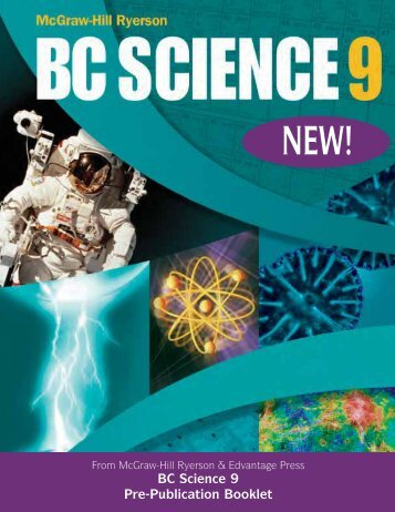 BC Science 9 Pre-Publication Booklet - bcscience.com
