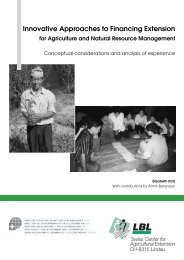 Innovative Approaches to Financing Extension - AGRIDEA ...