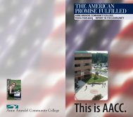 the american promise fulfilled - Anne Arundel Community College