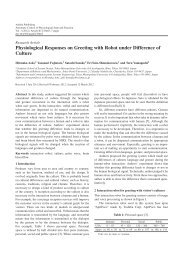 Physiological Responses on Greeting with ... - Ashdin Publishing