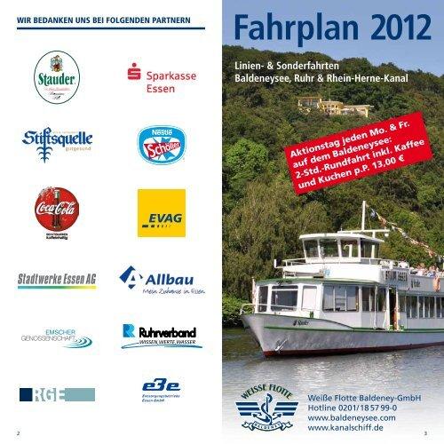 Weiße flotte mülheim fahrplan 2020