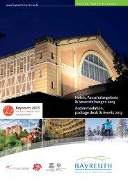 Hotelverzeichnis 2013 Bayreuth & Umgebung - Stadt Bayreuth