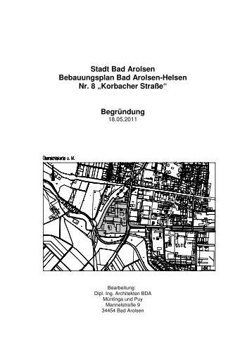BBPlan Korbacher Straße_Begründung - Bad Arolsen