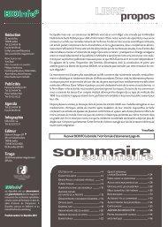 sommaire - BIOinfo le magazine du Mieux-Vivre