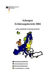 1 Entwicklungen der Schengener Kooperation auf EU-Ebene - des ...