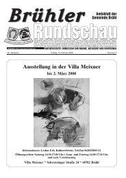 Ausstellung in der Villa Meixner - Gemeinde Brühl