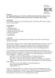 Protokoll der Vorstandssitzung des BDK-NRW vom 11 - Bund ...