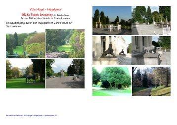 - Buch Burg-Haus - Villa Hügel - Hügelpark - Essen - bredeney