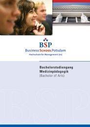 Bachelor of Arts - BSP Business School Berlin Potsdam