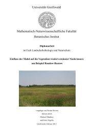 Universität Greifswald Mathematisch-Naturwissenschaftliche ...