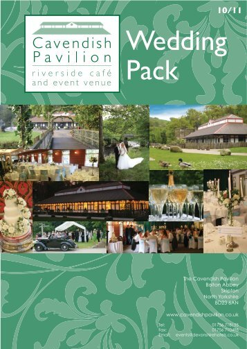 wedding pack cover.eps - Cavendish Pavilion