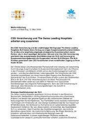 Medienmitteilung als PDF - CSS Versicherung