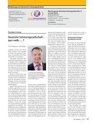 Deutsche Schmerzgesellschaft – quo vadis … ?
