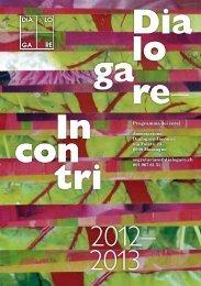 Programma 2012/2013 - Associazione Dialogare-Incontri