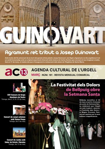 Agramunt ret tribut a Josep Guinovart