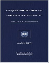 an inquiry into the nature and causes of the wealth of nations, vol. i