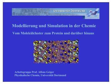 Modellierung und Simulation in der Chemie - DoMuS