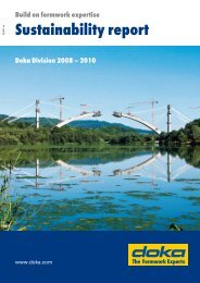Sustainability report - Doka