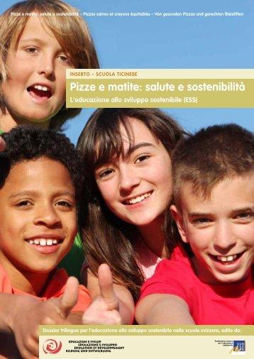 Pizze e matite: salute e sostenibilità - Stiftung Bildung und Entwicklung