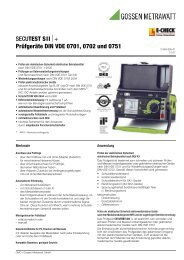 SECUTEST SII⏐+ Prüfgeräte DIN VDE 0701, 0702 und 0751