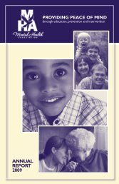 ANNUAL REPORT 2009 - Frederick County Mental Health Association