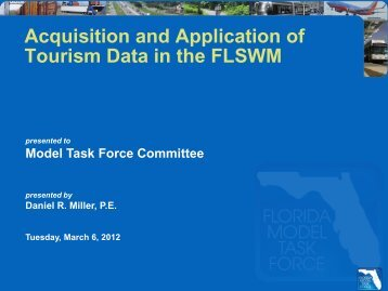 Acquisition and Application of Tourism Data in the - FSUTMSOnline
