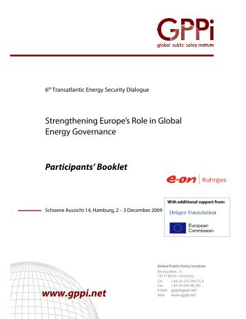 Participants' Booklet - Transatlantic Responses to Critical Issues in ...