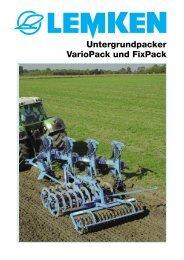 Untergrundpacker VarioPack und FixPack
