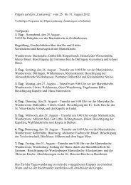 """Pilgern auf dem """"Castusweg"""" vom 25. bis 31. August 2012 ..."""