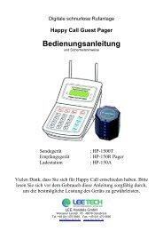 Bedienungsanleitung - LEE Tech
