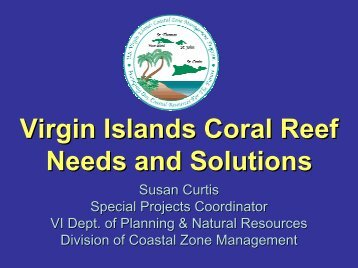 Virgin Islands Coral Reef Needs and Solutions