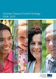 Victorian Tobacco Control Strategy 2008–2013 - Department of Health