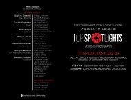 Spotlights 2013 Invitation PDF - International Center of Photography