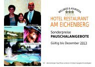 Pauschalangebot - Hotel Am Eichenberg