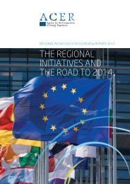The Regional iniTiaTives and The Road To 2014