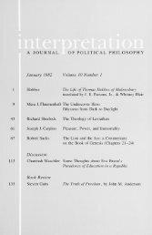 January 1982 - Interpretation: A Journal of Political Philosophy