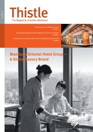 Mandarin Oriental Hotel Group – A Global Luxury Brand - Jardines