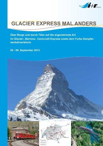"""""""Schweiz - Glacier Express"""" als PDF - r TOURS"""