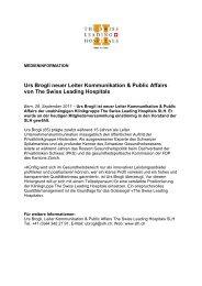 Urs Brogli neuer Leiter Kommunikation & Public ... - Klinik Seeschau