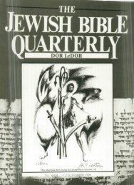 Editorial - Jewish Bible Quarterly