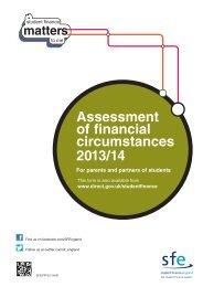 Assessment of financial circumstances 2013/14